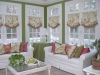 Top Treatments in the sunroom