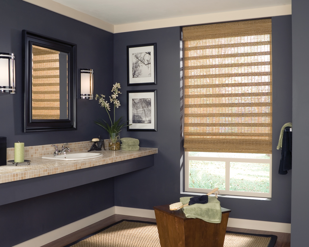 Bathroom window blinds - Woven Wood Shades Dallas Tx