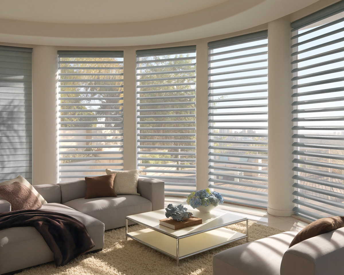 Sheer hunter douglas pirouette shades dallas coppell tx for Window coverings
