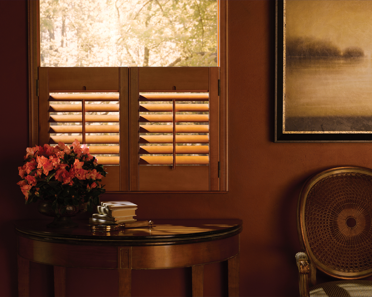 New shutters for the holidays dallas addison fort worth tx - Hunter douglas interior shutters ...