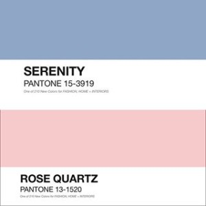 Pantone Colors of the Year 2016, Serenity and Rose Quartz