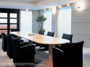 Duette® Honeycomb Shades in the Conference Room