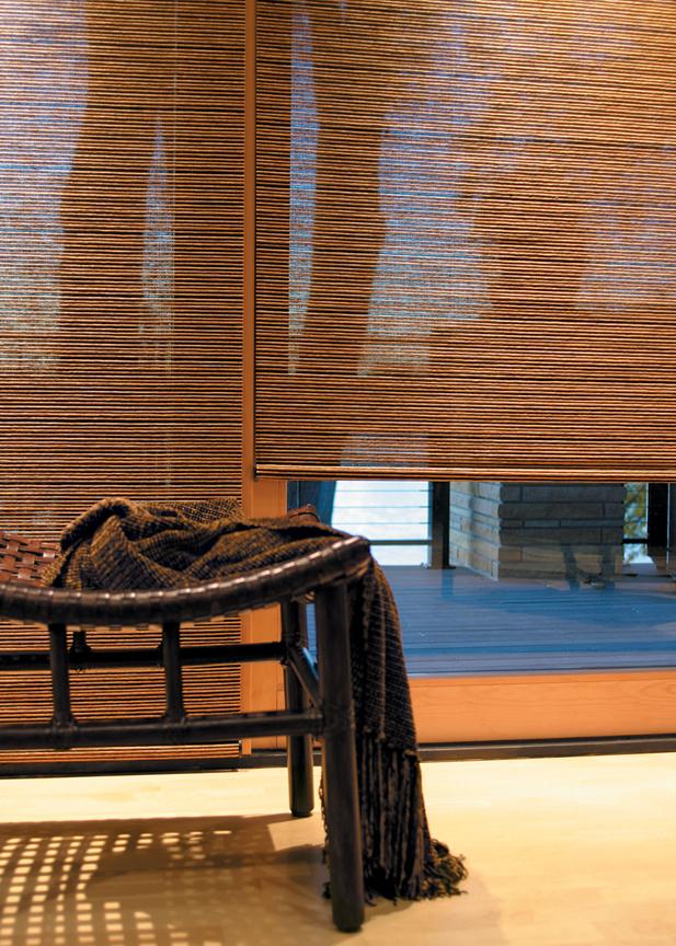 Hunter douglas woven wood natural window shades dallas for Hunter douglas motorized shades