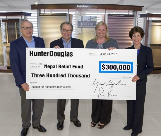 Hunter Douglas Dealer Helping The People Of Nepal