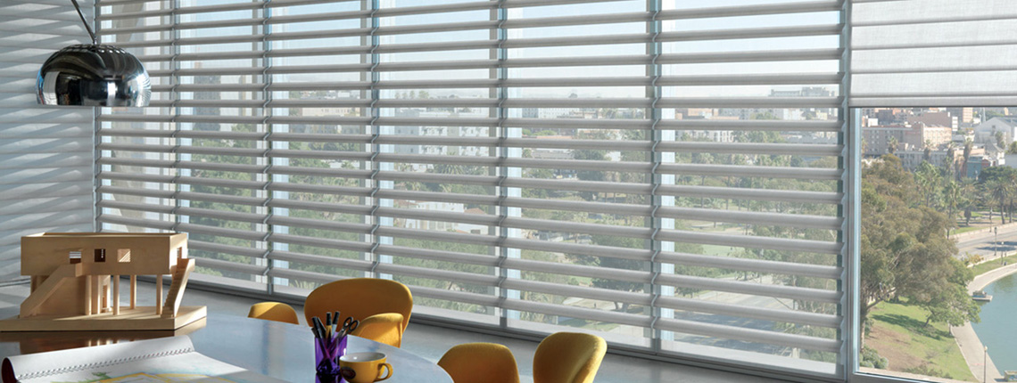 Blinds dallas shades dallas drapery window treatments for Hunter douglas motorized blinds