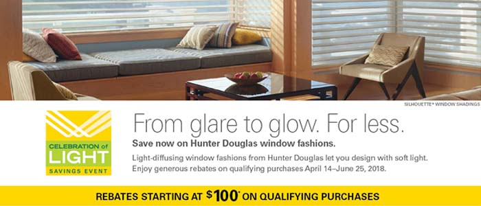 Hunter Douglas Window Shades Promotions Dallas Irving Tx